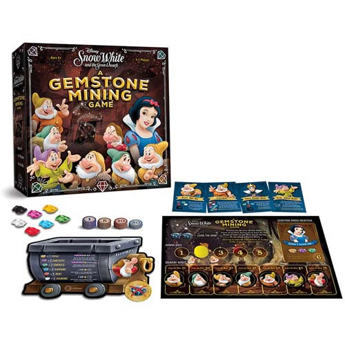 Boardgames - Disney - Snow White and the Seven Dwarfs: Gemstone Mining
