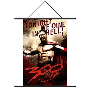 "300 Wall Scroll #1 - ""Tonight We Dine In Hell"""